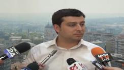 Declarațiile de presă al purtătorului de cuvânt al Primăriei Municipiului Iași, Sebastian BURAGA