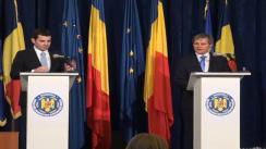 Briefing susținut de ministrul Agriculturii și Dezvoltării Rurale, Daniel Constantin, și comisarul european pentru agricultură și dezvoltare rurală, Dacian Cioloș