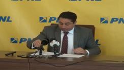 Conferință de presă susținută de Vicepreședintele PNL, Cristian David