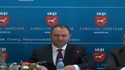 """Semnarea contractului pentru proiectul """"Sistemul de management integrat al deșeurilor"""" între Consiliul Județean Iași și firma Geiger Transilvania"""
