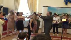 Festivitatea de premiere al elevilor decari de la BAC organizată de Primăria Municipiului Iași