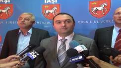 Declarațiile președintelui Consilului Județean Iași, Cristian Adomniței, și al directorului ADR Nord-Est, Constantin Apostol