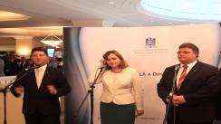 Briefing susținut de Titus Corlățean, Natalia Gherman și Linas Antanas Linkevicius