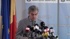 Conferință de presă susținută de ministrul Sănătății, Eugen Nicolăescu, privind protestele anunțate în acest domeniu