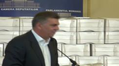 Conferință de presă susținută de președintele Camerei Deputaților, Valeriu Zgonea