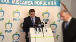 Conferința de presă susținută de Partidul Mișcarea Populară