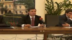Conferință de presă susținută de viceprimarul municipiului Iași, Mihai Chirica, și reprezentanții firmei Dalkia