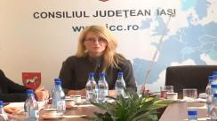 Conferința de presă organizată cu ocazia lansării proiectului destinat dotării cu echipamente a bazelor de intervenții pentru situații de urgență la Consiliul Județean Iași