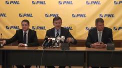 Conferință de presă susținută de Crin Antonescu, președintele Partidului Național Liberal