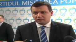 Declarațiile președintelui Partidului Mișcarea Populară, Eugen Tomac, la Iași