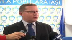 Declarațiile președintelui filialei Iași a Partidului Mișcarea Populară, Dan Constantin Mâță