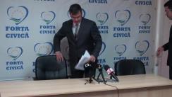 Conferință de presă susținută de Forța Civică privind absorbția fondurilor europene și propunerea de Acord de Parteneriat cu UE a Guvernului Ponta