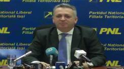 Conferință de presă susținută de Relu Fenechiu, președintele PNL Iași