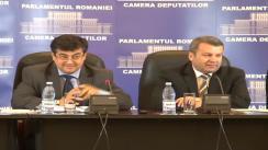 Conferință de presă susținută de Gheorghe Ialomițianu și Tinel Gheorghe privind acordarea facilității firmelor care au de încasat bani de la Stat