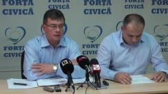 Conferință de presă susținută de președintele Forței Civice, Mihai-Răzvan Ungureanu, și secretarul general al Forței Civice, Ștefan Pirpiliu