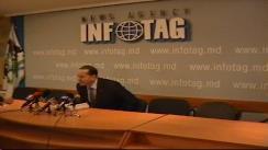 Mihail Formuzal, sustine o conferinta de presa privind rezultatele activității Comitetului Executiv al Gagauziei timp de 1000 de zile