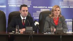 Conferință de presă pe tema moțiunii simple depuse de PDL referitoare la privatizarea CFR Marfă, precum și alte subiecte privind protecția socială