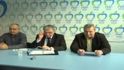 Conferință de presă susținută de filiala municipală Iași a Partidului Mișcarea Populară