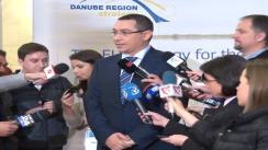 """Conferință de presă susținută de Victor Ponta pe tema """"Forum anual al Strategiei Uniunii Europene pentru Regiunea Dunării"""""""