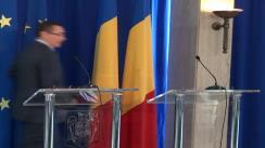 Briefing susținut de Victor Ponta și Neelie Kroes, vicepreședintele Comisiei Europene responsabil pentru Agenda Digitală