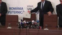 Conferință de presă susținută de conducerea USL din 11 noiembrie 2013