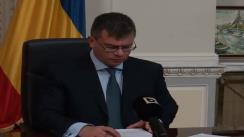 Conferință de presă susținută de președintele Forței Civice, Mihai-Răzvan Ungureanu, privind proiectul legii descentralizării