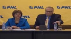 Conferință de presă susținută de deputații liberali George Scutaru, Cristina Pocora, Theodor Nicolescu, Teodor Atanasiu și Florica Cherecheș
