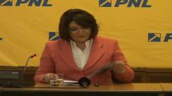 """Conferință de presă susținută de europarlamentarul PNL, Adina Vălean, cu tema """"Noi mecanisme de finanțare a infrastructurii europene în următorii șapte ani"""""""