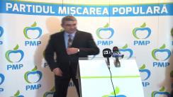 Conferință de presă susținută de conducerea Partidului Mișcarea Populară