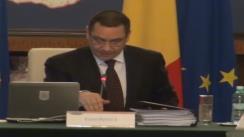 Ședința Guvernului României din 27 noiembrie 2013 (imagini protocolare)