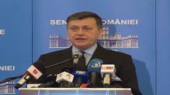 Conferință de presă susținută de președintele Partidului Național Liberal, Crin Antonescu