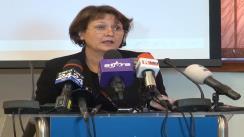 Conferință de presă susținută de Laura Georgescu, președintele Consiliului Național al Audiovizualului