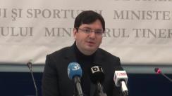 Conferință de presă privind activitatea Ministerului Tineretului și Sportului al României din anul 2013