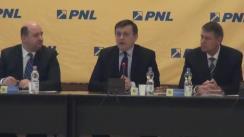 Declarația președintelui PNL, Crin Antonescu, înainte de Biroul Politic Național al PNL din 9 ianuarie 2014