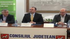 Conferință de presă susținută la Consiliul Județean Iași