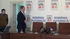 Conferință de presă susținută de conducerea USL din 13 ianuarie 2014