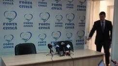 Conferință de presă susținută de conducerea Forței Civice