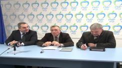 Conferință de presă susținută de filiala Iași a Partidului Mișcarea Populară