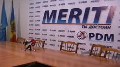 Conferință de presă susținută de Partidul Democrat