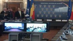 Videoconferință organizată de Ministerul Afacerilor Interne cu prefecții, pe tema măsurilor adoptate de structurile M.A.I. ca urmare a avertizărilor meteo