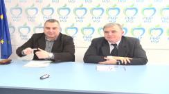 Conferință de presă susținută de filiala județeană Iași a Partidului Mișcarea Populară