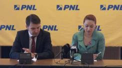 Conferință de presă susținută de deputații PNL, Cristina Pocora și Ionuț Stroe, privind participarea delegației României la prima sesiune din acest an la APCE