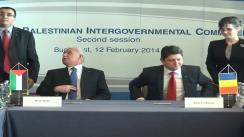 Briefing susținut de Titus Corlățean și Riad al-Malki, ministrul de externe palestinian