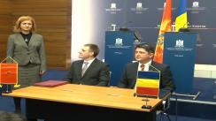 Briefing susținut de Titus Corlățean și Igor Lukšić, ministrul afacerilor externe și integrării europene din Muntenegru