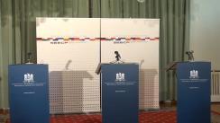 Conferință de presă a Troicii SEECP susținută de miniștrii de externe ai României, Macedoniei și Albaniei