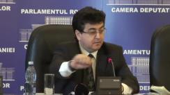 Conferință de presă susținută de liderul grupului parlamentar PDL al Camerei Deputaților, Gheorghe Tinel