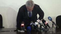 Conferință de presă susținută de senatorul PNL, Călin Popescu Tăriceanu