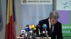 Prezentarea de către ministrul Sănătății, Eugen Nicolăescu, a bilanțului activității a ministerului