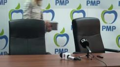 Conferință de presă susținută de Partidul Mișcarea Populară