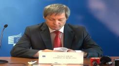 Conferință de presă susținută de comisarul european pentru agricultură și dezvoltare rurală, Dacian Cioloș
